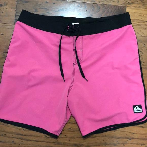 fe608c1ce5 Quiksilver Shorts | Quicksilver Mens Pink Board Short Swim Trunks ...